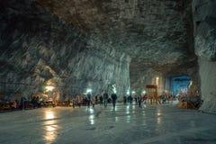 Praid salt min, Rumänien Arkivfoton
