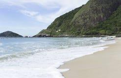 Prainha beachin里约热内卢,巴西 免版税库存照片