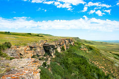 Prairie in Alberta, Canada. Canadian Prairie at Head-Smashed-In Buffalo Jump world heritage site in Southern Alberta, Canada royalty free stock image