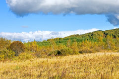 The prairie autumn scenery stock photos
