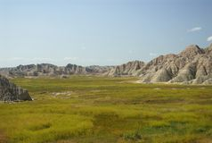 Prairie and Badlands Stock Photo