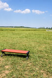 The prairie and bench Royalty Free Stock Photography