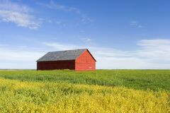 Prairie Building. A building standing alone on the prairie Stock Photos