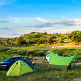 Prairie campground. Stock Photo