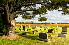 Prairie Cemetary. Wisconsin cemetary in early Autumn royalty free stock images