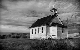 Prairie Church in Alberta Canada Stock Images