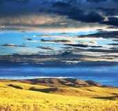 Prairie at dawn Stock Photo