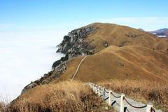 Prairie de montagne dans winter-2 Images libres de droits