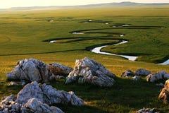 Prairie de Nailin Gol Image stock