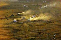 Prairie de Nalati au coucher du soleil Photos libres de droits
