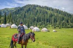 Prairie de Nalati du Xinjiang, Chine photos libres de droits