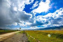Prairie de Ruoergai, au sud de Gansu, la Chine photo libre de droits