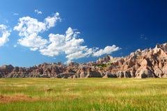 Prairie de stationnement national de bad-lands photo libre de droits