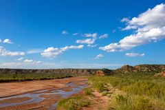 Prairie Dog Town Fork of the Red River Stock Photo