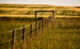 Prairie Fence Line Royalty Free Stock Photos