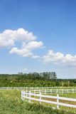 The prairie and fence Royalty Free Stock Photography