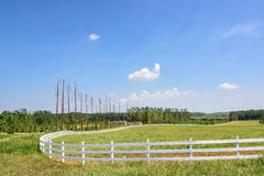 The prairie and fence Royalty Free Stock Image