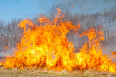 Prairie Fire Stock Photo