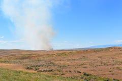 Prairie Fire Wyoming Stock Image