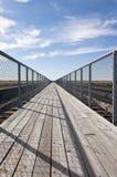 Prairie Foot Bridge Stock Images