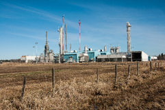 Prairie gas plant. One of many natural gas plants on the alberta prairie in canada Stock Photo