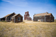 Prairie Grain Elevator in old ghost town Stock Photography