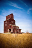 Prairie Grain Elevator On The Canadian Landscape Royalty Free Stock Photo