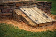 Prairie Grove Battlefield State Park Stock Images & Green Exterior Storm Cellar Doors Stock Image - Image of outside ...