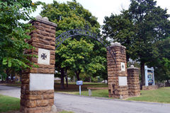 Prairie Grove State Park. Entrance to Prairie Grove Battlefield State Park in Arkansas Stock Photography