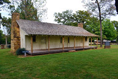 Prairie Grove State Park Morrow House. The Morrow House at Prairie Grove Battlefield State Park in Arkansas was the headquarters of Confederate General Thomas Royalty Free Stock Photo
