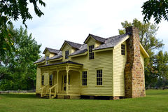 Prairie Grove State Park Morrow House. The Borden House at Prairie Grove Battlefield State Park in Arkansas was the location of a defensive line of confederate Royalty Free Stock Images