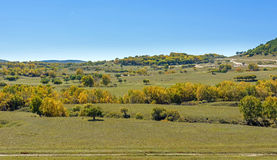 The prairie and hill royalty free stock photography