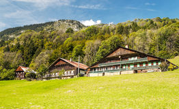 Prairie House in the French Alps Stock Photos