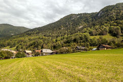 Prairie House in the French Alps Stock Images