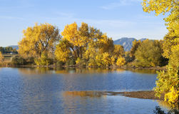 Prairie Lake in Autumn Stock Image
