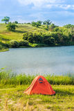 Prairie Lake campground. Stock Photo