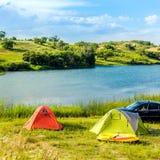 Prairie Lake campground. Stock Images