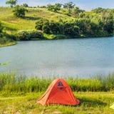 Prairie Lake campground. Royalty Free Stock Photo