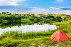 Prairie Lake campground. Royalty Free Stock Image