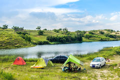 Prairie Lake campground. Stock Image