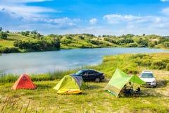 Prairie Lake campground. Stock Image