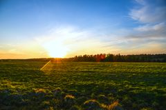 Prairie Landscape And Sky Royalty Free Stock Photos