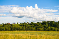 Prairie landscape and sky Stock Image