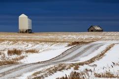 Prairie Landscape in winter Stock Photo