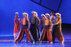 The prairie men-The dance drama The legend of the Condor Heroes Stock Photography