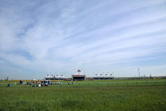 Prairie Naadam venue Stock Photos
