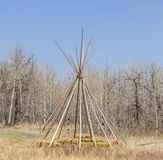Prairie Native Teepee Frame Royalty Free Stock Images