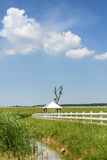 The prairie and pavilion Royalty Free Stock Photography