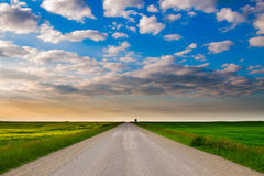 Prairie Road Stock Image