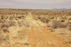 A  prairie  road in New Mexico Stock Photography